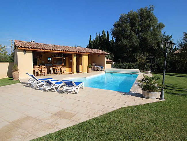 Location piscine chauff e avec pool house quip courth zon vaucluse - Photos pool house piscine ...