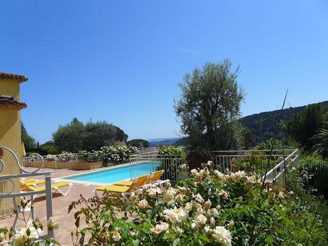 Location c te d 39 azur vence 06 villa avec piscine - Location cote d azur avec piscine ...